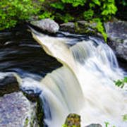 Rushing Water On A Mountain Stream Poster