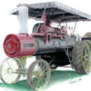 Russell Steam Tractor Poster