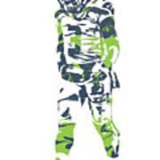 Russell Wilson Seattle Seahawks Pixel Art 11 Poster