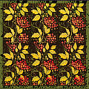 russian pattern Hohloma Poster