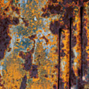 Rust Abstract Car Part Poster