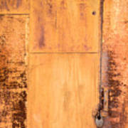 Rust On Metal Texture Poster