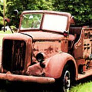 Rusted Mack Fire Engine Poster