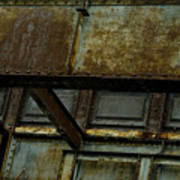 Rusted Steel Support Structure Poster