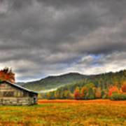 Rustic Autumn Barn Poster