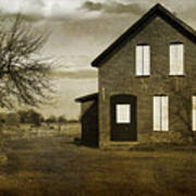 Rustic County Farm House Poster