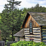 Rustic Farmhouse At Old World Wisconsin Poster