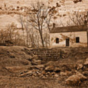 Rustic Lockhouse Mural Poster