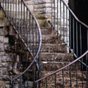 Rustic Staircase Poster