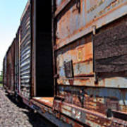 Rustic Train Poster