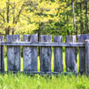 Rustic Wooden Fence At Old World Wisconsin Poster