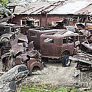 Rusting Antique Cars Poster
