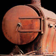Rusty Abandoned Steam Locomotive Poster
