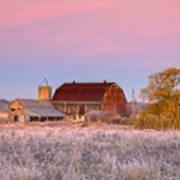 Rusty Barn At Dawn Poster