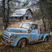 Rusty Blue Dodge Poster