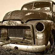 Rusty But Trusty Old Gmc Pickup Poster by Gordon Dean II