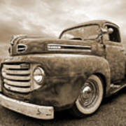 Rusty Jewel In Sepia - 1948 Ford Poster
