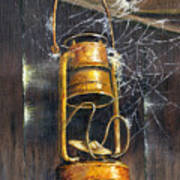 Rusty Lantern Poster by Bob Hallmark