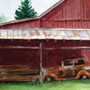 Rusty Ole Car Poster