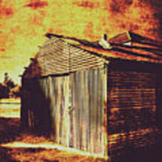 Rusty Outback Australia Shed Poster