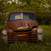 Rusty Red Chevy Poster