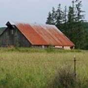 Rusty Roofed Barn    Washington State Poster
