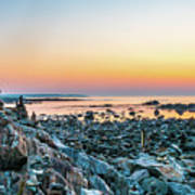 Rye, New Hampshire Sunrise Cairns Poster
