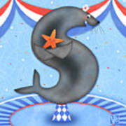 S Is For Seal And Starfish Poster