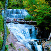 Sable Falls At Pictured Rocks National Lakeshore Trail, Michigan  Poster