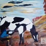 Sacandole  La Leche Ala Vaca Poster