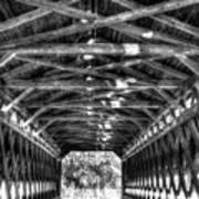 Sachs Bridge - Gettysburg - Bw-hdr Poster
