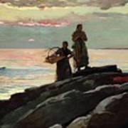 Saco Bay Poster by Winslow Homer