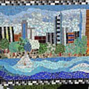 Sacramento City Skyline Mosaic Poster