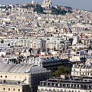Sacre Coeur At The Summit Of Montmartre Paris Poster