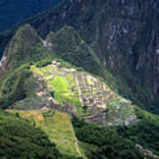 Sacred City Of Machu Picchu Poster