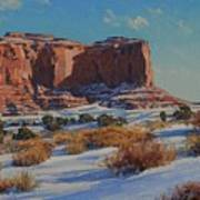 Saddleback Butte-monument Valley Poster