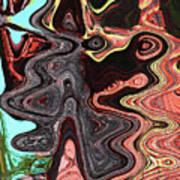 Saguaro Sore Abstract Poster