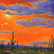 Saguaro Sunset Poster