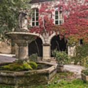 Saignon Fountain Provence  Poster