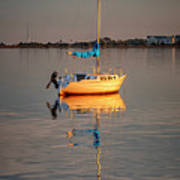 Sail Boat In Roanoke Sound 1x2 Ratio Img_3969 Poster