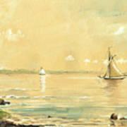 Sail Ship Watercolor Poster