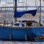Sailboat And Dingy Poster