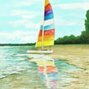 Sailboat Reflection Poster