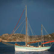 Sailboat In Iona Bay Poster