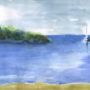 Sailboat In Still Waters Poster