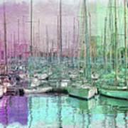 Sailboat Lineup - Watercolor Poster