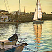 Sailboat On Arrival Poster