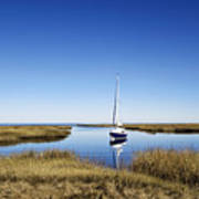 Sailboat On Cape Cod Bay Poster