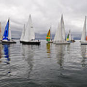 Sailboat Race Seattle Poster