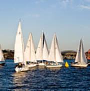 Sailboat Racing Poster